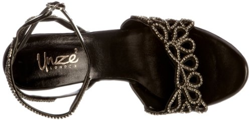 Unze Evening Sandals L18475W - Sandalias para mujer Negro