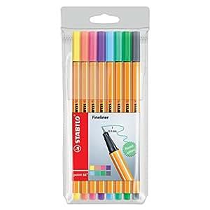 Etui de 8 stylos feutres Pen 68 STABILO pointe moyenne 1 mm Pastel Collection
