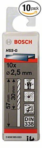 Bosch 2608585467 Metal Drill Bit Hss-G 1 1mmx14mmx36mm 10 Pcs