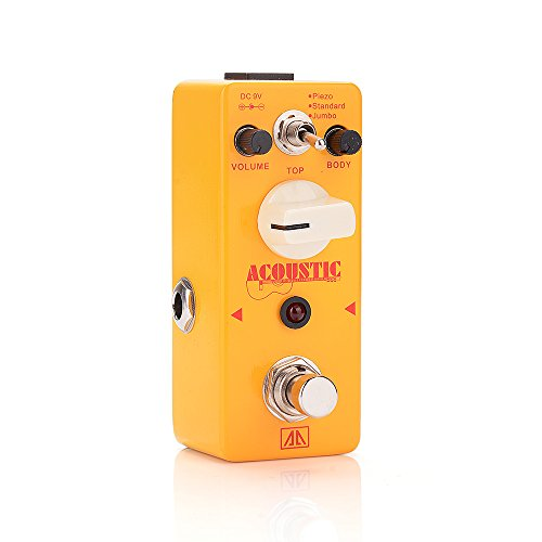 AA - AAS-5 ACOUSTIC True Bypass Mini Portable Guitar Effects Pedal for Guitar Bass