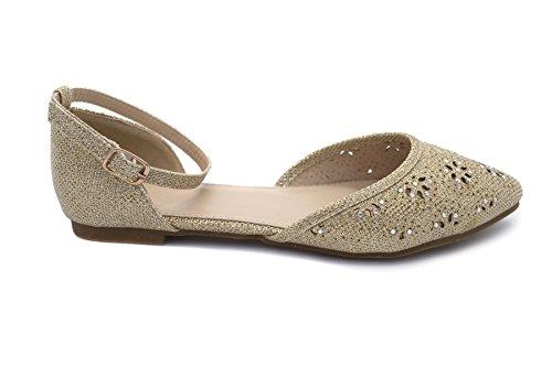 London Footwear - Ballet mujer Dorado - dorado