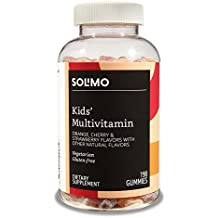 Amazon Brand - Solimo Kids' Multivitamin, 190 Gummies, 95-Day Supply