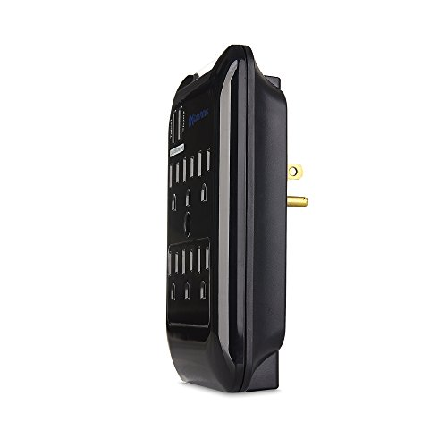 Cable Matters 6-Outlet Wall Mount Surge Protector with 2.4A Dual USB Charging