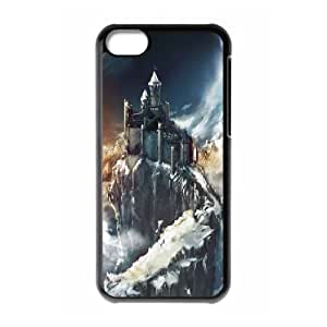 IPhone 5C Cases, Protective Cute Mystical Castle Cases for IPhone 5C {Black}