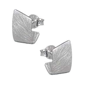 MELINA pendientes conector plata 925