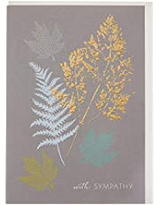 The Art File ARTSAM39 Sympathy Gold Leaf Greeting Card
