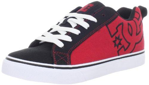 DC Men's Court Vulc TX Fashion Sneaker,Black/Athletic Red/White,13 M US