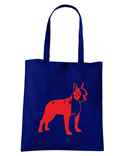 T-Shirtshock - Bolsa para la compra FUN1243 dog breed decal 34a 68434 Azul Marino
