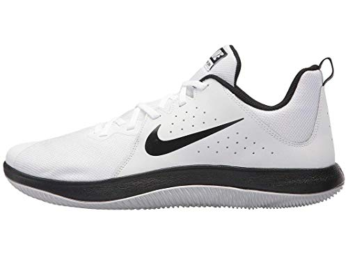 NIKE Men s Fly.by Low Basketball Shoe White Black-Pure Platinum (10.5 D US) 8590b5973
