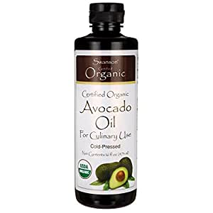Swanson Certified Organic Avocado Oil 16 fl oz (1 pt) (473 ml) Liquid