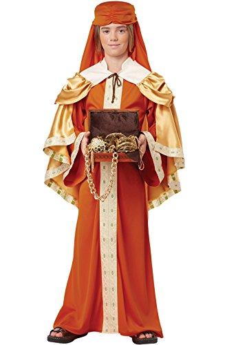 California Costumes Gaspar of India Child Costume, (Wise Man King Costume)