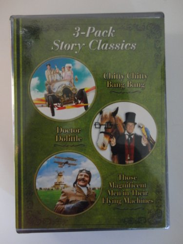 3 Pack Story Classic Chitty Chitty Bang Bang, Doctor Dolittle, Those Magnificent Men in Their Flying Machines