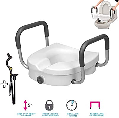 Incredible Elevated Raised Toilet Seat With Removable Adjustable Gmtry Best Dining Table And Chair Ideas Images Gmtryco