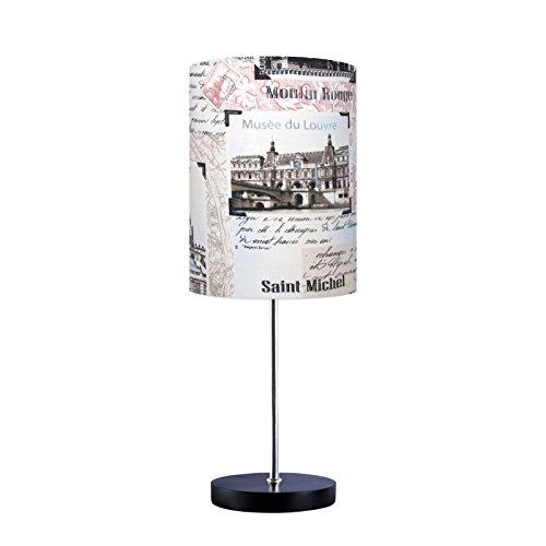 Abajur Luminária Sala Quarto Lettres de Paris Carambola