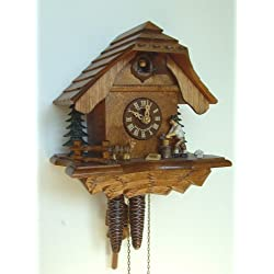 1-Day 9.5 in. Chalet Woodchopper Cuckoo Clock