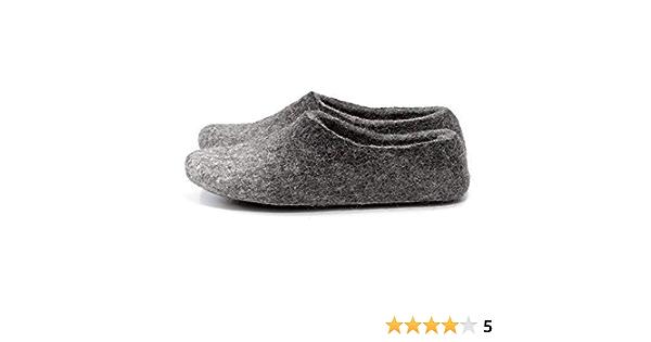 Felt shoes for women Wool felt shoes Gray burgundy shoes Handmade shoes Custom shoes Winter comfortable shoes Designer warm shoes Size US 9