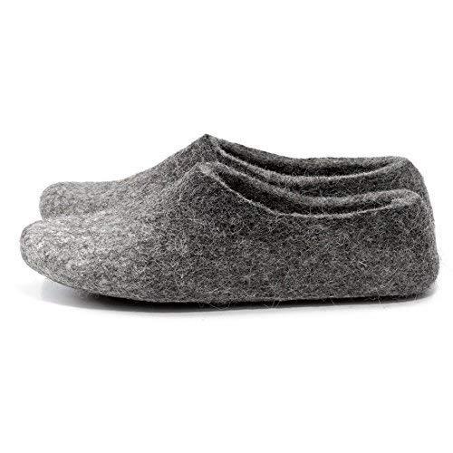 f2dc9277c21ea BureBure Women's Warm Wool Slippers Clogs Indoor/Outdoor Handmade in Europe