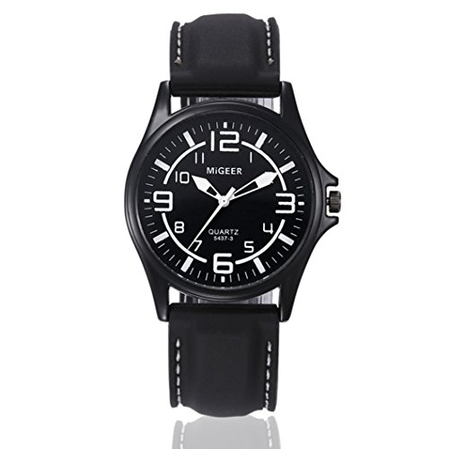 Price comparison product image Nikuya Men Quartz Hours Wrist Analog Watch Fashion Silicone strap Sport Cool Watch (Black)