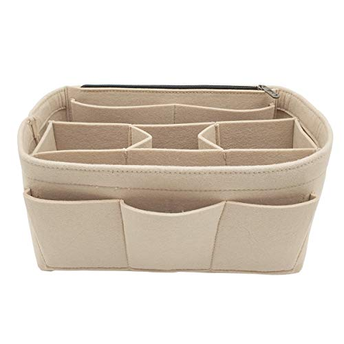 LEXSION Felt Handbag Organizer,Insert purse organizer Structure Shaper fits Speedy 8001 Beige M (Bags Organizer)