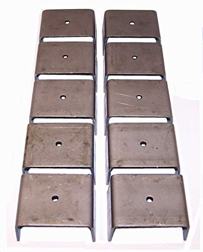 Rack 'Em Weld-On Steel Stake Pockets for Truck & Trailers (10)