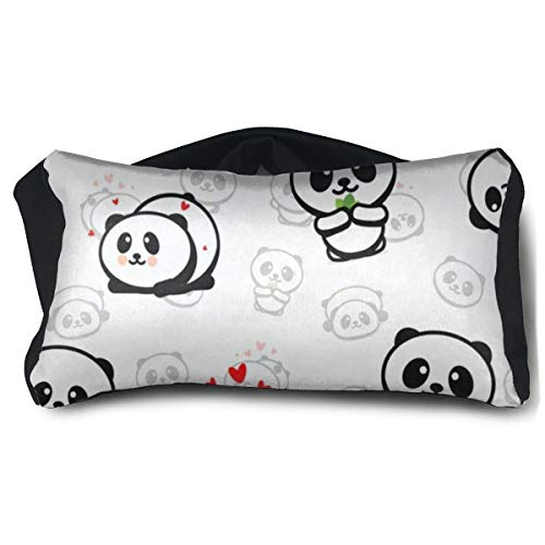 Cute Panda White Travel Pillow and Eye Mask for Sleeping Rest Naps Neck Support Pillows Portable Convertible Eye Pillow Ergonomic Best for Airplanes Car Train Bus Home Office Camping