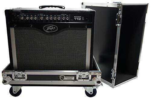(Harmony HCGC212C Universal 1X12 Electric Guitar Combo Amp Rolling Flight Case)