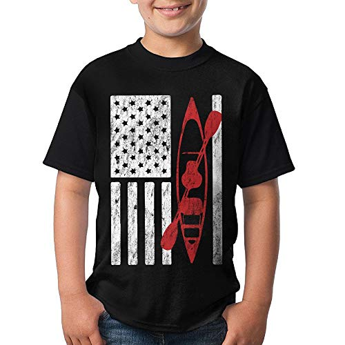 ican Flag Boys Crew Neck Short Sleeve T-Shirts Tees ()