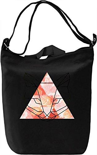 Triangle Cat Borsa Giornaliera Canvas Canvas Day Bag| 100% Premium Cotton Canvas| DTG Printing|