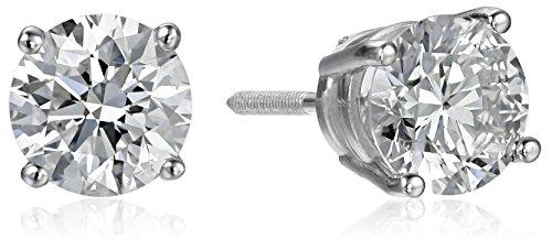IGI Certified 14k White Gold Lab Created Diamond Stud Earrings (1 1/2 cttw, I-J Color, SI1-SI2 Clarity) from Amazon Collection