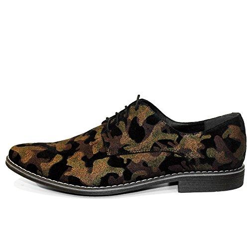 PeppeShoes Modello Morolow - Cuero Italiano Hecho A Mano Hombre Piel Marrón Zapatos Vestir Oxfords - Cuero Cuero Suave - Encaje