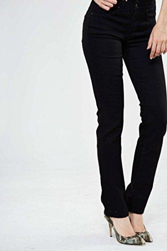 Salsa - Jeanshose Push In Secret, Slim Fit - Damen - schwarz