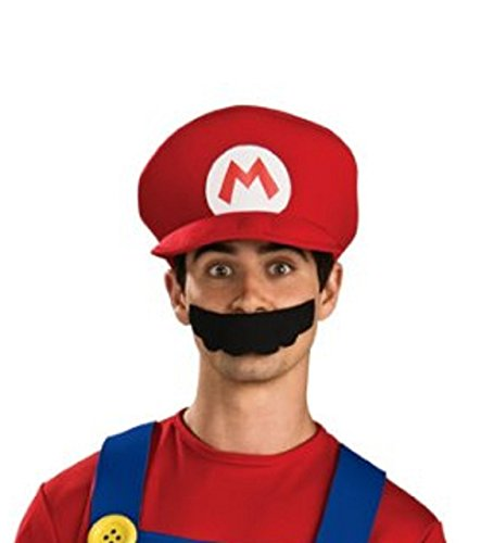 Princess Peach Deluxe Adult Costumes (Super Mario Brothers, Deluxe Hat, Mario)