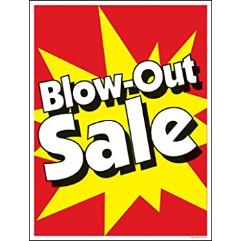 Blow-Out Sale Window Sale Sign Posters Retail Business Store Signs (P40-25