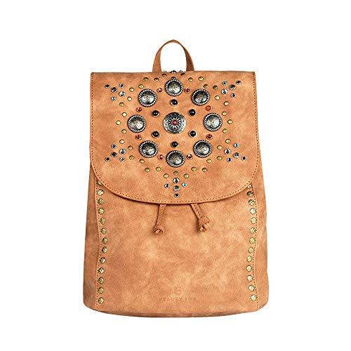 (XINBABYG Backpack - Japanese and Korean College Wind Retro Rivet Beaded Backpack, Large Capacity Drawstring PU Soft Leather Backpack Simple Leisure Travel Bag)