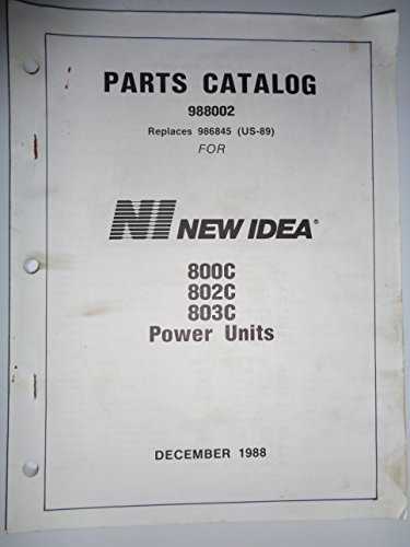 (Avco New Idea No. 800C 802C 803C Uni-Power Unit Parts Catalog Book Manual 12/88 original)