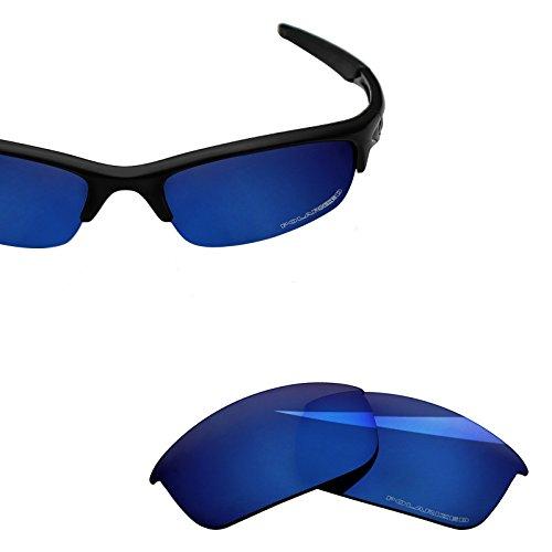BlazerBuck Anti-salt Polarized Replacement Lenses for Oakley Bottle Rocket OO9164 - Midnight Blue (Oakley Bottle Rocket Lenses)