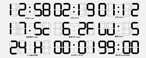 Large Led Digital Alarm Wall Clock Remote Control 12 24