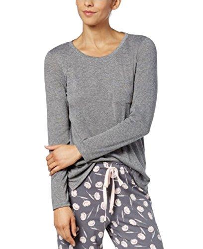 Alfani Scoop-Neck Pajama Top Grey (XLarge)