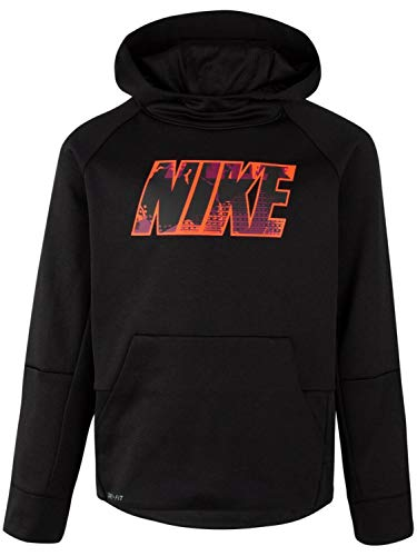 Nike Conquer Game - Nike Kids Boy's Therma Legacy AOP Hoodie (Little Kids) Black 7