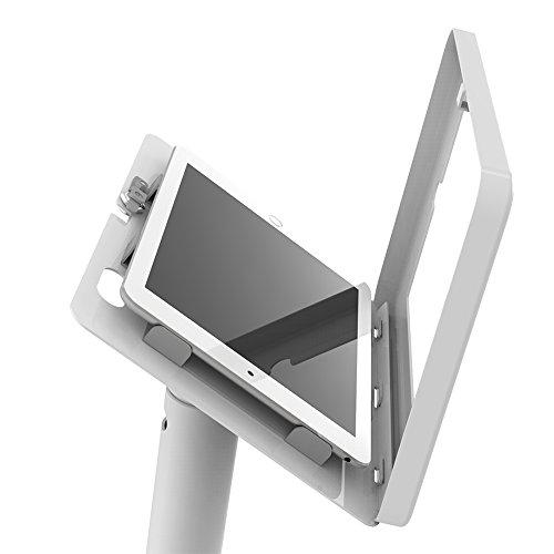 iPad Floor Stand Kiosk 360 Swivel for iPad Pro 9.7,Air 1,Air 2,iPad 5th/6th,Anti-Theft,Key Lock,Metal,White,BSF301W - Beelta by Beelta (Image #5)