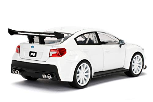 Jada Toys Fast & Furious 1:24 Mr. Little Nobody's Subaru WRX STI Die-cast Car, Toys for Kids and Adults, White (98296) 4