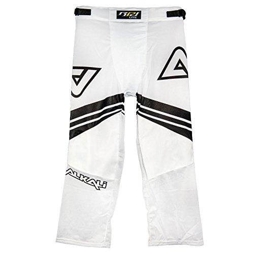 Line In Pants Hockey (Alkali Hockey RPD Lite Pant, Black/White, Junior Small)