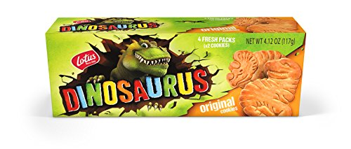 Lotus | Dinosaurus Original Cookies | 4.12 Ounce (12 Count) | 4 Two-Packs per Retail Pack | non-GMO + All-Natural