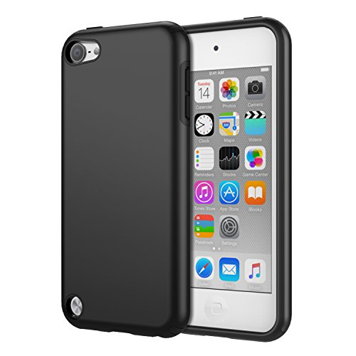 - MoKo Case Fit iPod Touch 2019 Released iPod Touch 7 / iPod Touch 6 / iPod Touch 5, 2 in 1 Shock Absorbing TPU Bumper Ultra Slim Protective Case with Hard Back Cover - Black