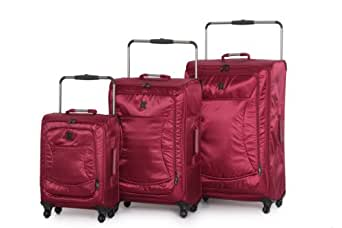 IT Luggage World's Lightest Spinner 3 Piece Set, Ruby Wine, One Size