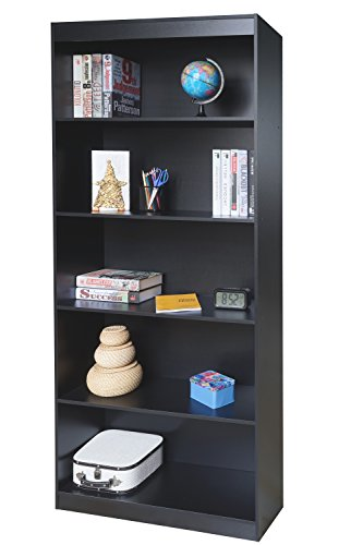 Techni Mobili RTA-BC19-BK Shelf Bookcase, Black by Techni Mobili