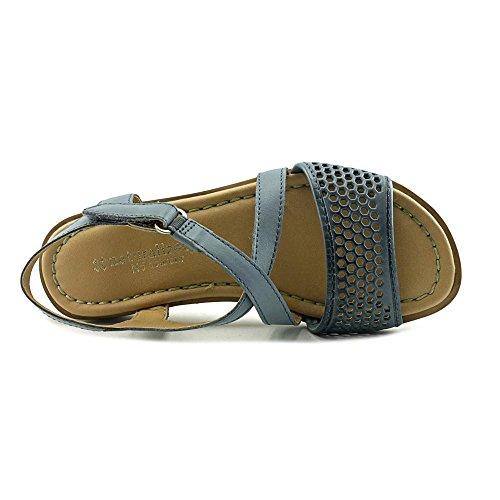 Donne Di Ginepro Naturalizer N Open Toe Sintetico Sandali Tan Signora Pelle Blu / S