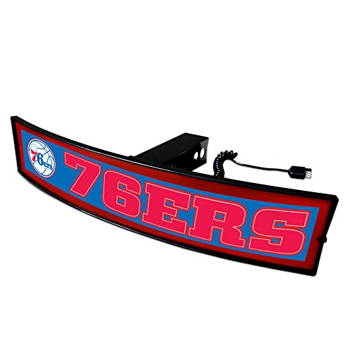 CC Sports Decor NBA - Philadelphia 76ers Light Up Hitch Cover - 21''x9.5'' by CC Sports Decor
