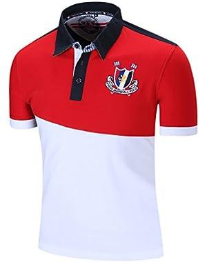 New Short Sleeve Polo Shirt for Men's Golf Polo Shirt T Shirt