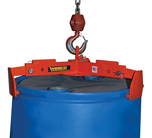 "Wesco Industrial Products 240062 Universal Drum Lifter, 1,000-lb. Capacity, 29.5"" x 29.5"" x 5.5"" from Wesco"